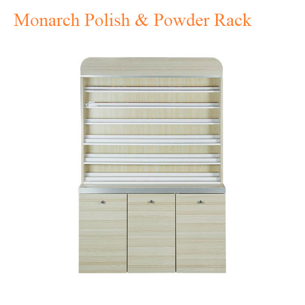 Monarch Polish & Powder Rack with Gel Color & Powder Cabinet – 48 inches