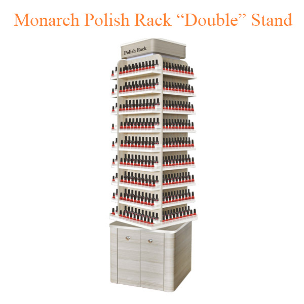 "Monarch Polish Rack ""Double"" Stand – 21 inches"