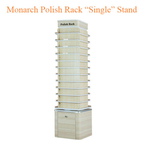 """Monarch Polish Rack """"Single"""" Stand – 19 inches"""