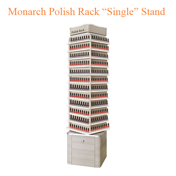 "Monarch Polish Rack ""Single"" Stand – 19 inches"