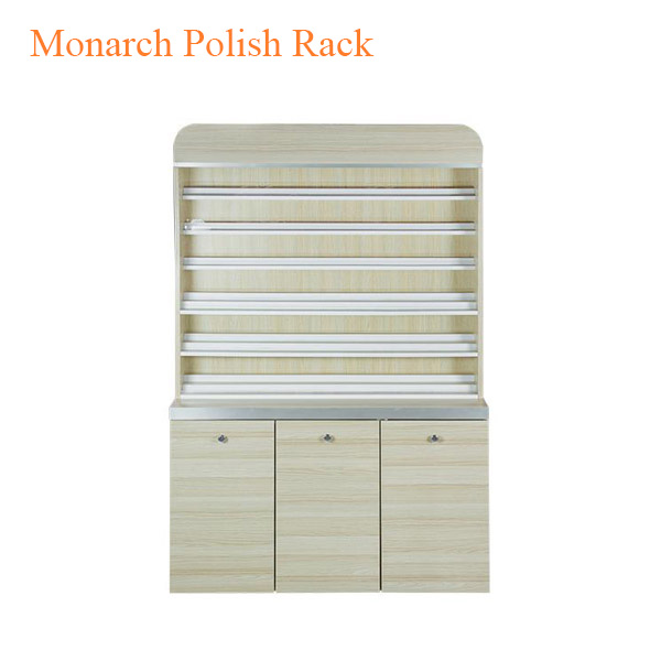 Monarch Polish Rack with Gel Color Cabinet – 48 inches