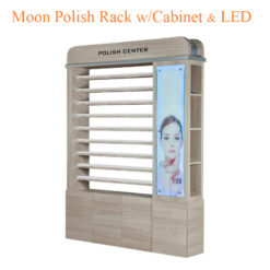 Moon Polish Rack with Cabinet & LED – 60 inches