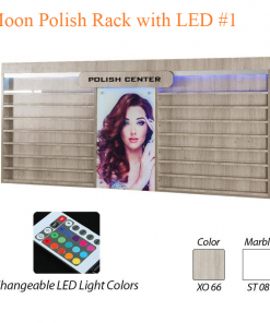 Moon Polish Rack with LED #1 – 90 inches