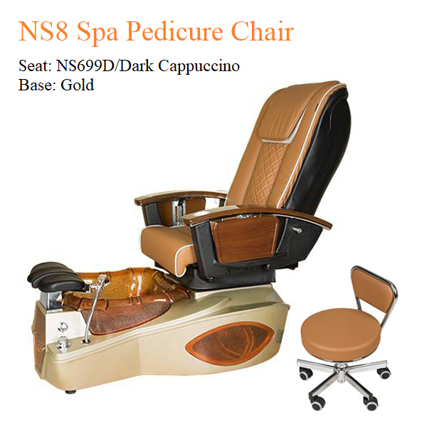 NS8 Luxury Spa Pedicure Chair with Magnetic Jet and Built-in-Remote