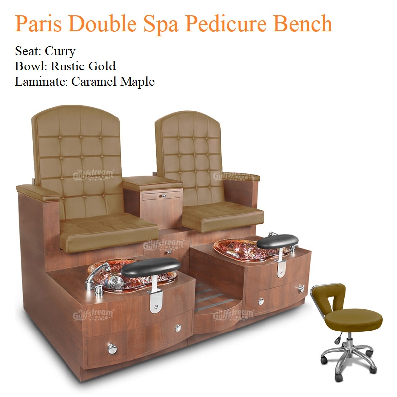 Paris Double Luxury Spa Pedicure Bench with Magnetic Jet – Spacious Seating