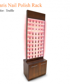 Paris Nail Polish Rack with Cabinet & LED Light