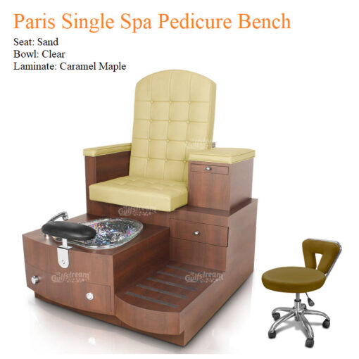 Paris Single Luxury Spa Pedicure Bench with Magnetic Jet – Spacious Seating