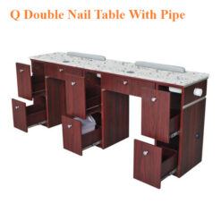 Q Double Nail Table With Pipe – 73 inches