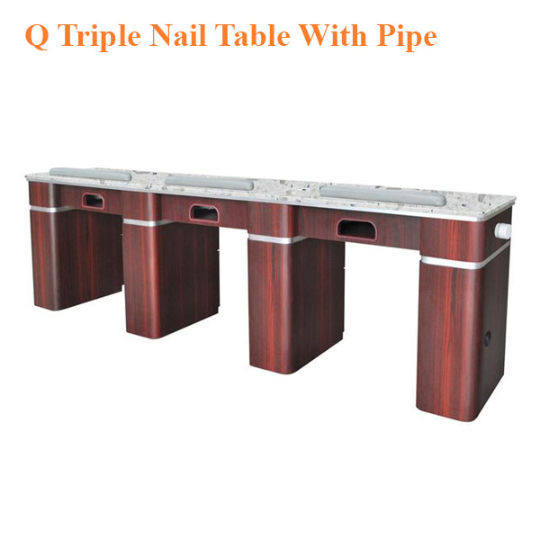 Q Triple Nail Table With Pipe – 104 inches