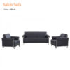 Salon Sofa Black 100x100 - Salon Sofa - Black