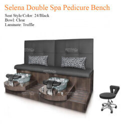 Selena Double Luxury Spa Pedicure Bench with Magnetic Jet – Spacious Seating 3 247x247 - Equipment nail salon furniture manicure pedicure
