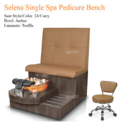Selena Single Luxury Spa Pedicure Bench with Magnetic Jet – Spacious Seating 01 247x247 - Equipment nail salon furniture manicure pedicure
