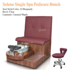 Selena Single Luxury Spa Pedicure Bench with Magnetic Jet – Spacious Seating 02 247x247 - Equipment nail salon furniture manicure pedicure