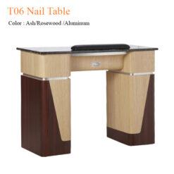 T06 Nail Table Ash Rosewood Aluminum 40 inches  247x247 - Equipment nail salon furniture manicure pedicure