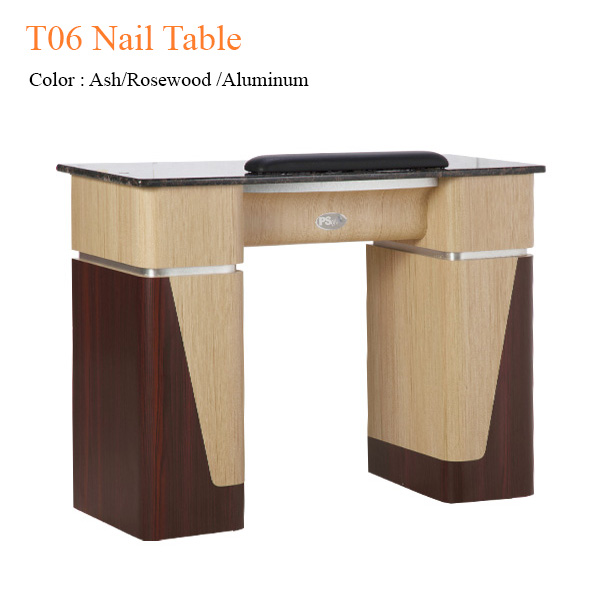 T06 Nail Table (Ash/Rosewood/Aluminum) – 40 inches