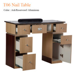 T06 Nail Table Ash Rosewood Aluminum 40 inches 0 247x247 - Equipment nail salon furniture manicure pedicure