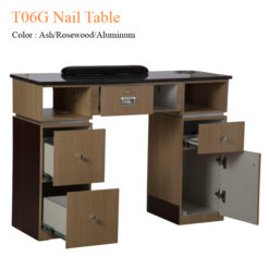 T06G Nail Table Ash Rosewood Aluminum 42 inches 0 247x247 - Equipment nail salon furniture manicure pedicure