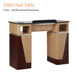 T06G Nail Table Ash Rosewood Aluminum 42 inches 247x247 - Equipment nail salon furniture manicure pedicure