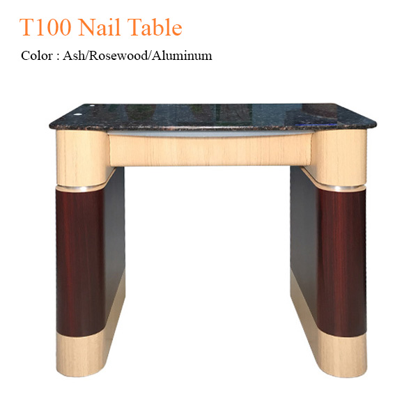 T100 Nail Table (Ash/Rosewood/Aluminum) – 31 inches