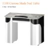 T108 Custom Made Nail Table White Black 40 inches 100x100 - T108 Custom Made Nail Table (White/Black) - 40 inches