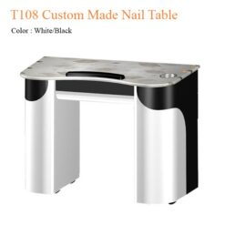 T108 Custom Made Nail Table White Black 40 inches 247x247 - Equipment nail salon furniture manicure pedicure