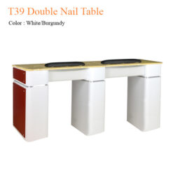 T39 Double Nail Table 68 inches 1 247x247 - Equipment nail salon furniture manicure pedicure