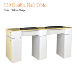 T39 Double Nail Table 68 inches 247x247 - Equipment nail salon furniture manicure pedicure