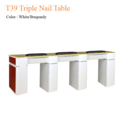 T39 Triple Nail Table 97 inches 1 247x247 - Equipment nail salon furniture manicure pedicure