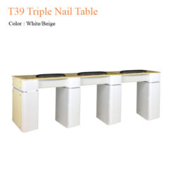 T39 Triple Nail Table 97 inches 247x247 - Equipment nail salon furniture manicure pedicure
