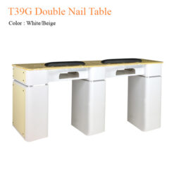 T39G Double Nail Table 68 inches 247x247 - Equipment nail salon furniture manicure pedicure