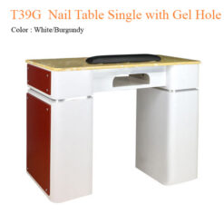 T39G Nail Table Single with Gel Hole 39 inches 0 247x247 - Equipment nail salon furniture manicure pedicure