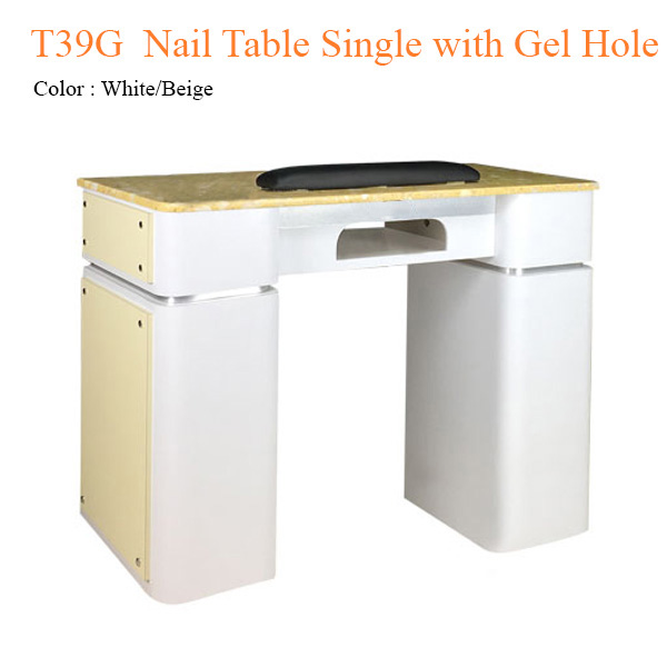 T39G  Nail Table Single with Gel Hole – 39 inches