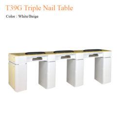T39G Triple Nail Table 97 inches 247x247 - Equipment nail salon furniture manicure pedicure