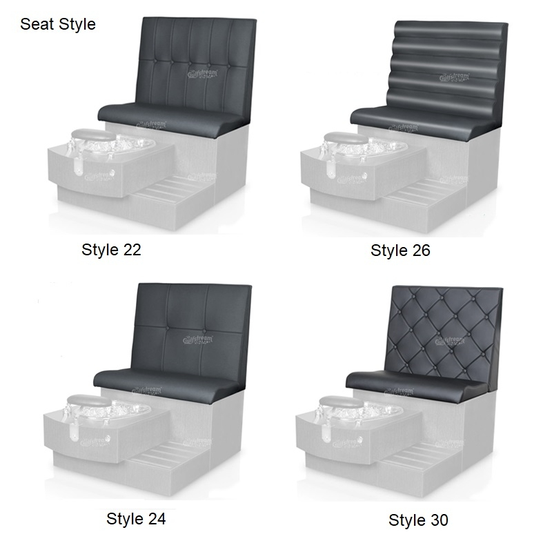 Tiffany Double Luxury Spa Pedicure Bench with Magnetic Jet – Spacious Seating