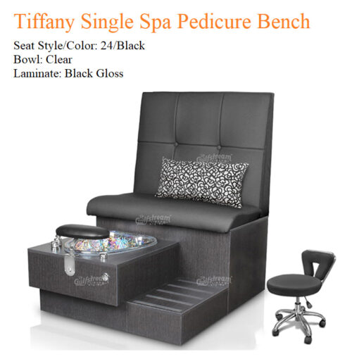 Tiffany Single Luxury Spa Pedicure Bench with Magnetic Jet – Spacious Seating
