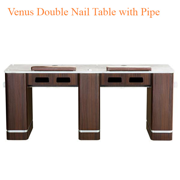 Venus Double Nail Table with Pipe – 72 inches