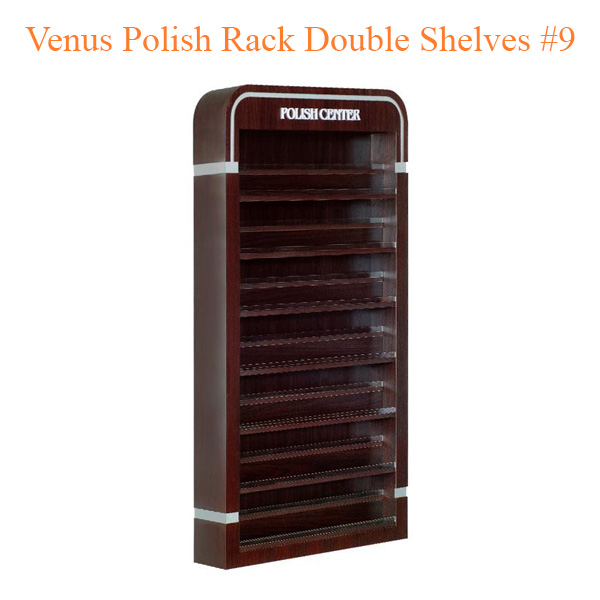 Venus Polish Rack Double Shelves #9 – 63 inches