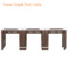 Venus Triple Nail Table 90 inches 100x100 - Venus Triple Nail Table - 90 inches