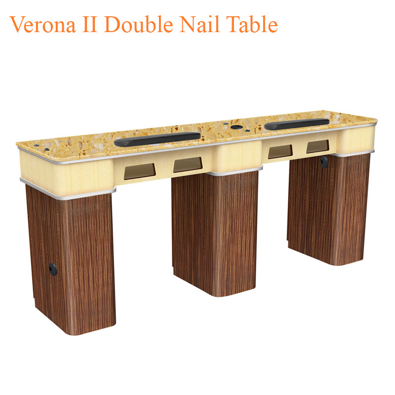 Verona II Double Nail Table – 72 inches