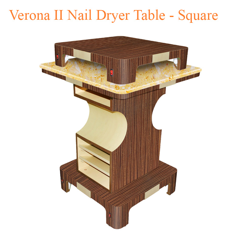 Verona II Nail Dryer Table – Square – 35 inches