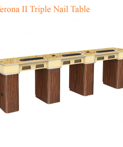 Verona II Triple Nail Table – 104 inches