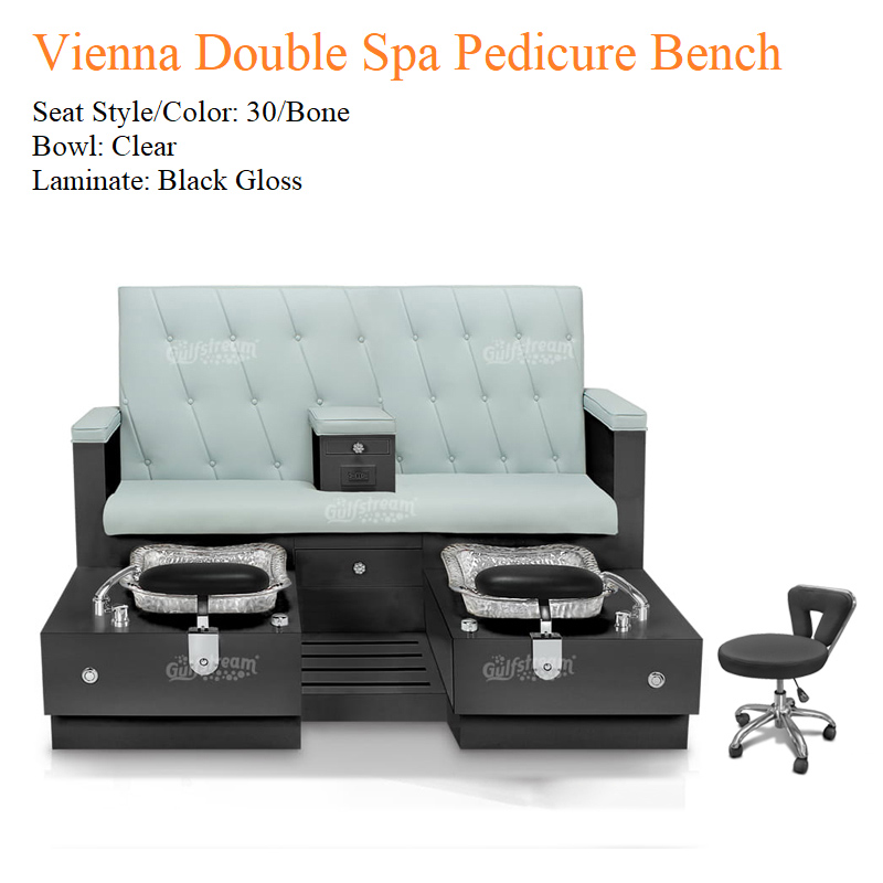 Sensational Vienna Double Luxury Spa Pedicure Bench With Magnetic Jet Spacious Seating Creativecarmelina Interior Chair Design Creativecarmelinacom