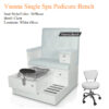 Vienna Double Luxury Spa Pedicure Bench with Magnetic Jet – Spacious Seating