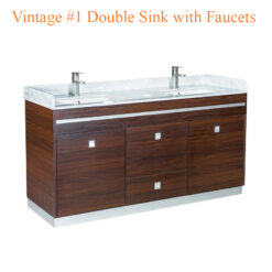 Vintage #1 Double Sink with Faucets – 64 inches
