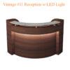 Quầy Tiếp Tân Vintage Với Đèn LED #11 – 72 Inches