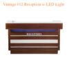Quầy Tiếp Tân Vintage Với Đèn LED #12 – 74 Inches