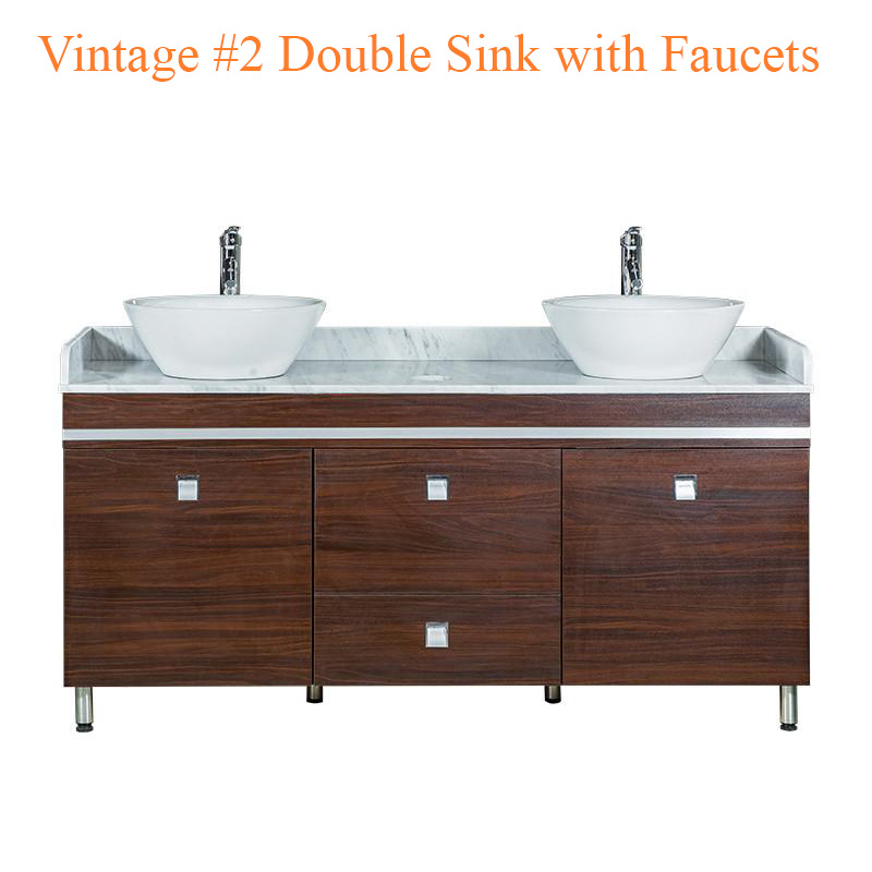 Vintage #2 Double Sink with Faucets – 64 inches