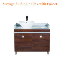 Vintage #2 Single Sink with Faucet – 39 inches