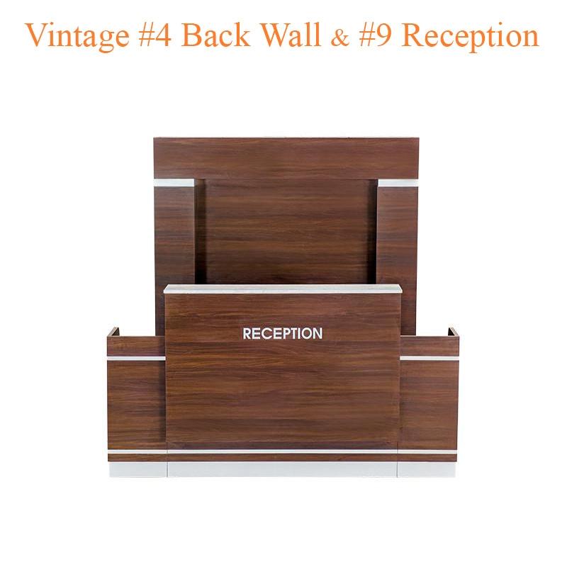 Quầy Tiếp Tân Vintage #9 Với Tường Chắn Vintage #4 (Set)
