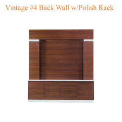 Vintage #4 Back Wall with Polish Rack – 75 inches